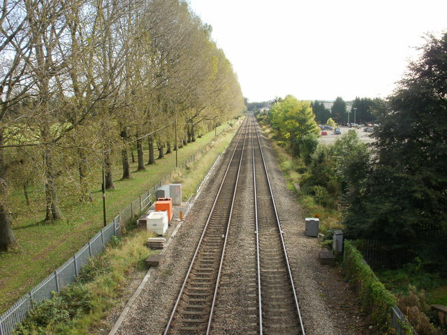 Railway south from Cwmbran station