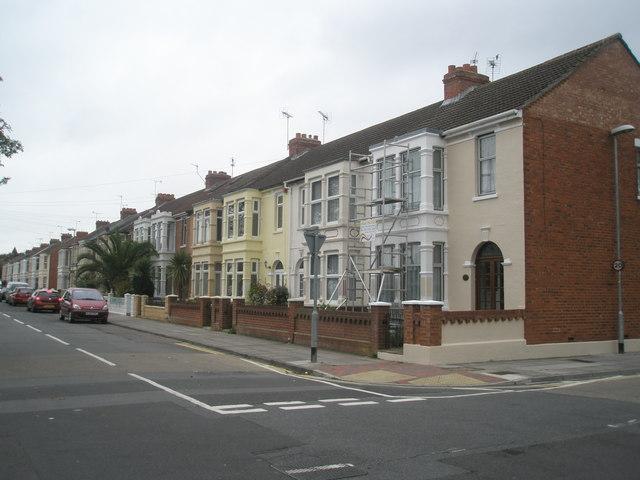 Scaffolding on a house in Kensington Road
