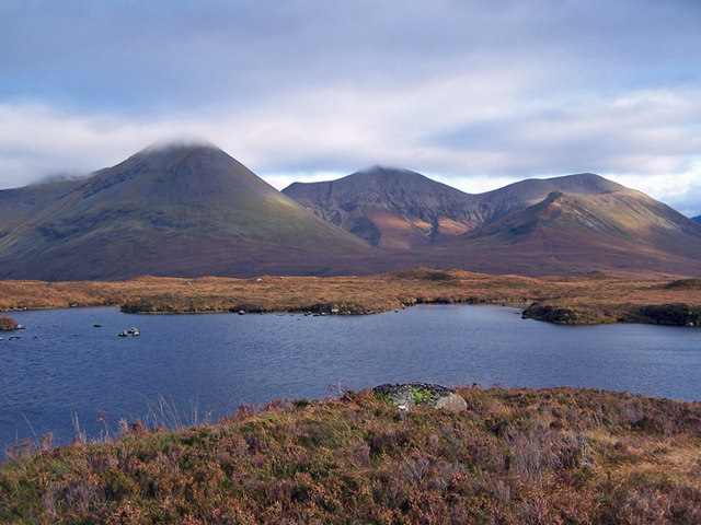 The Red Cuillin over Loch Mor na Caiplaich