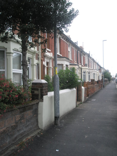 Pavement in Gladys Avenue