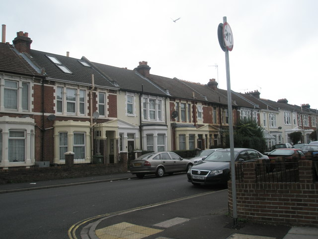 Looking from Wadham Road out into Gladys Avenue