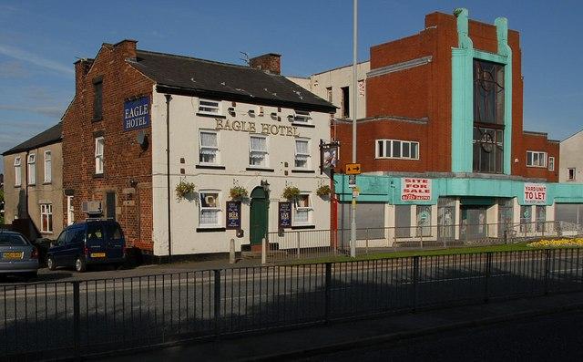 Eagle Hotel and old cinema