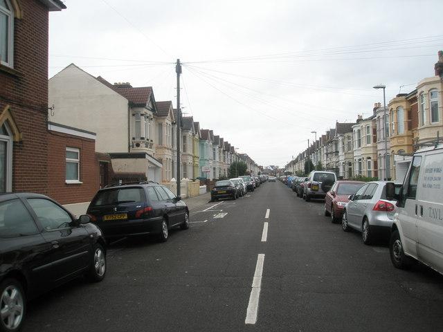 Looking eastwards along Oriel Road