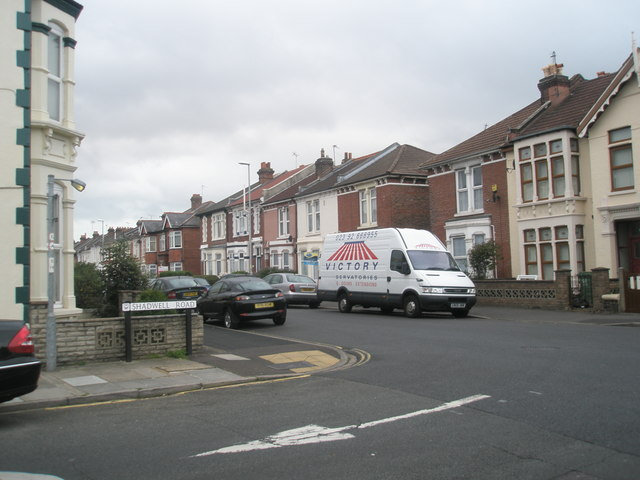 Looking from Shadwell Road out into Gladys Avenue