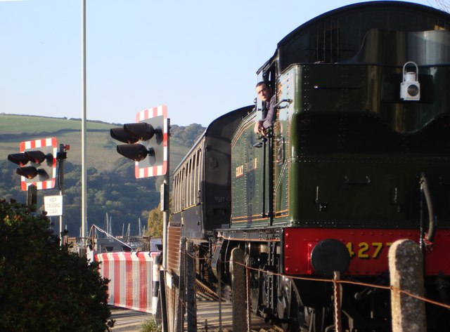 Steam Locomotive, Kingswear Ferry Level Crossing