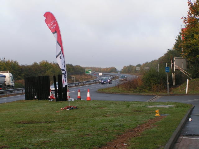 A27 looking west from the east-bound services at Emsworth