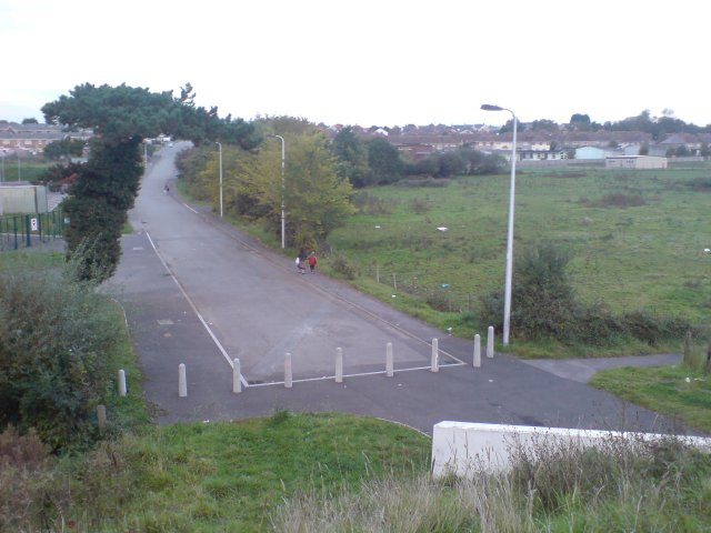 Old works access road