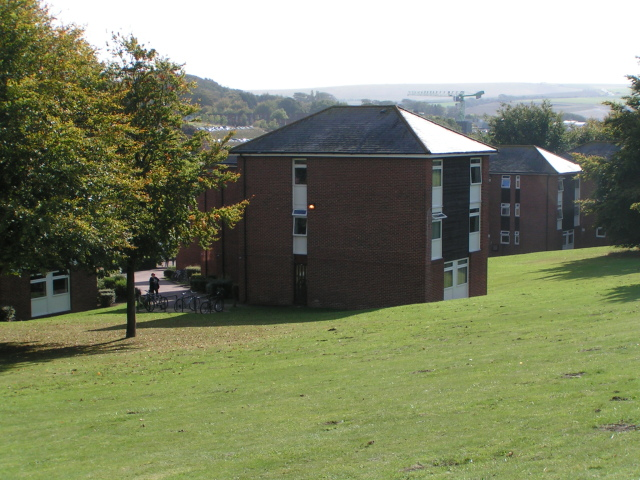 Residences at the north end of the University of Sussex campus