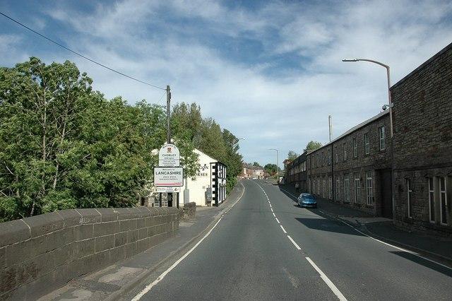 Entering Adlington on A6