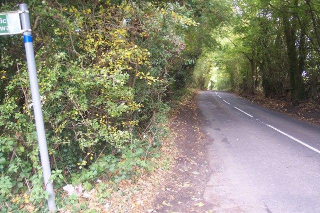 Church Road near Birchfield Wood