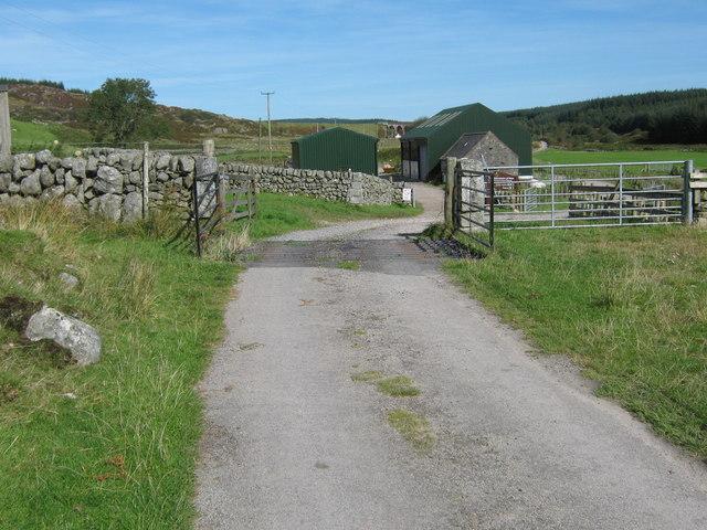 Cattle grid near the Cairnsmore of Fleet visitor centre