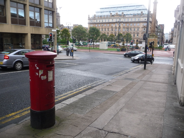 Glasgow: postbox № G1 1208, North Hanover Street