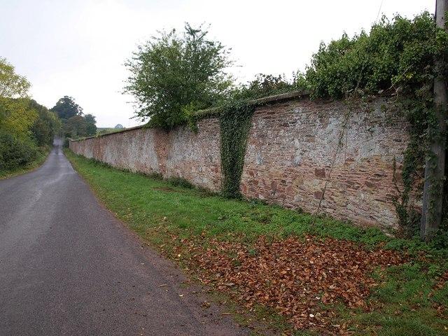 Wall, Hestercombe Road