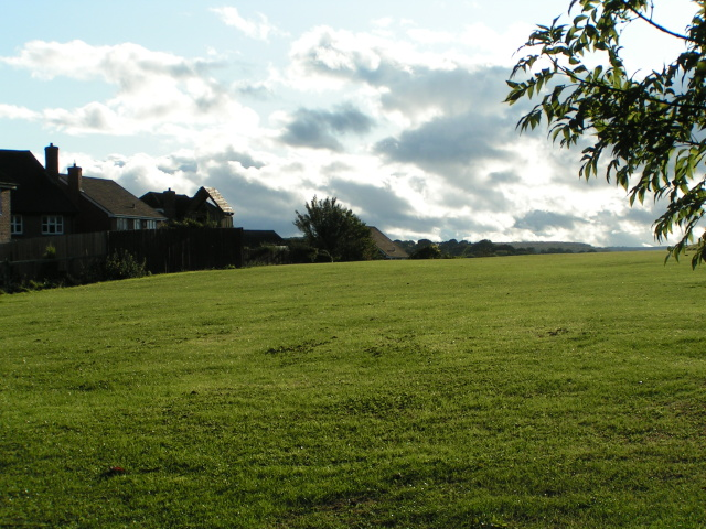 Houses and playing field at College Fields, Marlborough