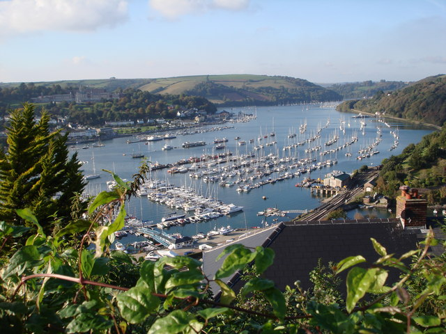 Dart Marina, Kingswear, looking upstream