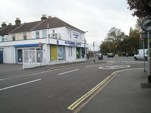 Looking along Hartley Road towards Alexandra Sports