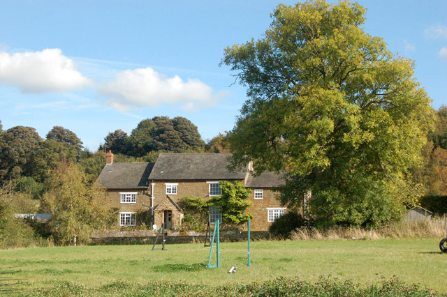 Priory Farm farmhouse, looking east from the footpath