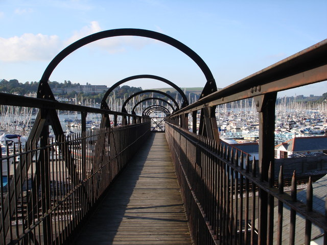Iron footbridge, Kingswear Station, Dart Estuary