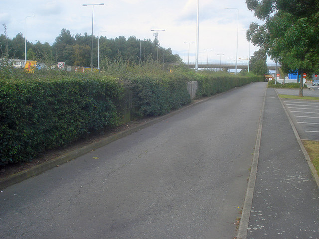 Service road at Trowell Services