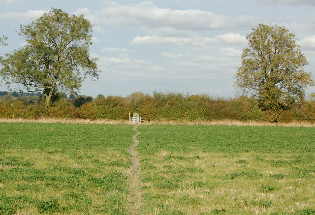 Across a field on the footpath from Priors Marston to Shuckburgh