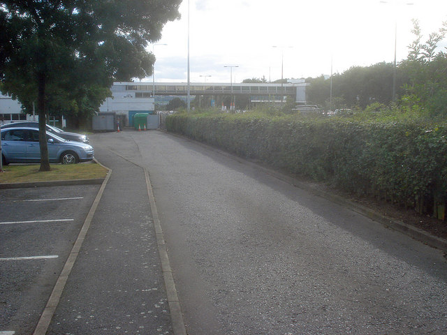 End of the service road at Trowell Services