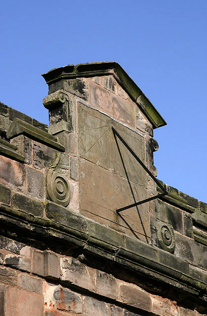 The sundial on Berwick Parish Church