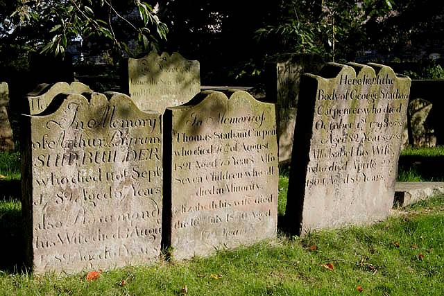 Gravestones at Berwick Parish Churchyard