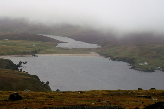 View to Burrafirth from near the summit of Saxa Vord