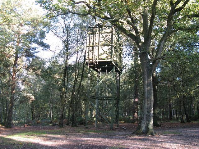 Water tower at Broadstone Warren