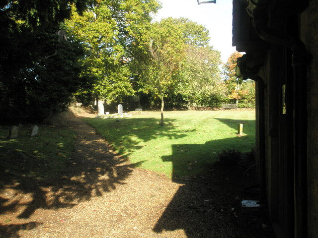 Shadows in the churchyard at St Peter, Terwick (1)