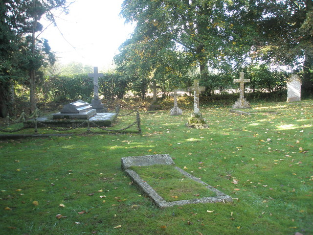 Simple crosses in the churchyard at St Peter, Terwick