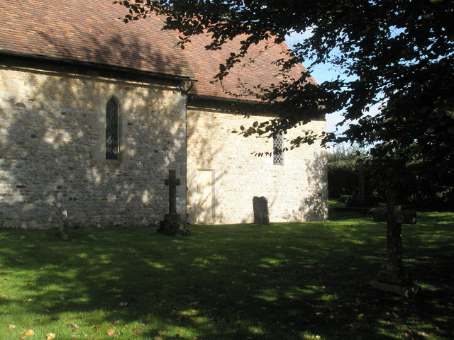 Shadows in the churchyard at St Peter, Terwick (2)