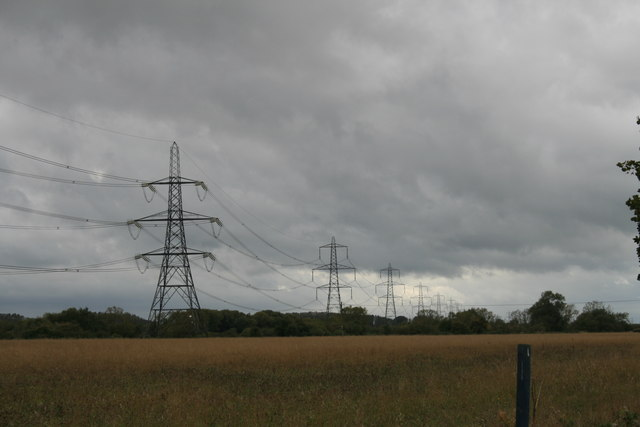 Line of pylons near Chimney