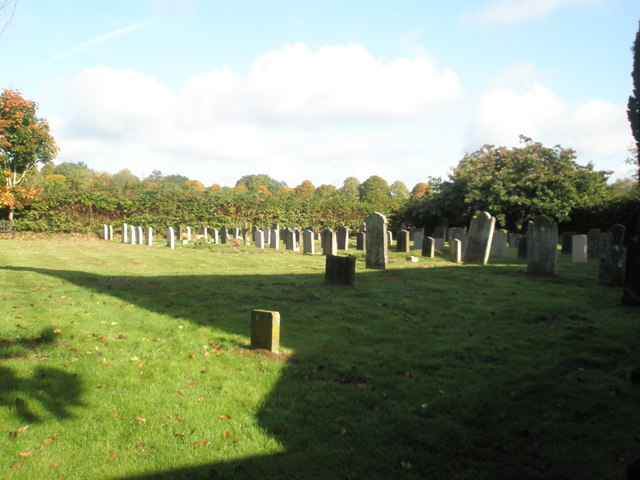 Distant graves at St Peter, Terwick