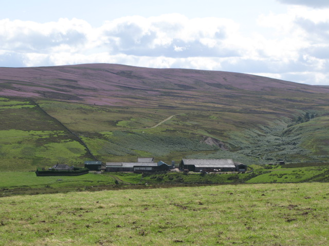 Westburnhope and the valley of the Linn Burn