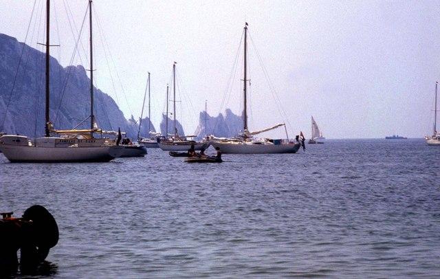 Boats in Alum Bay
