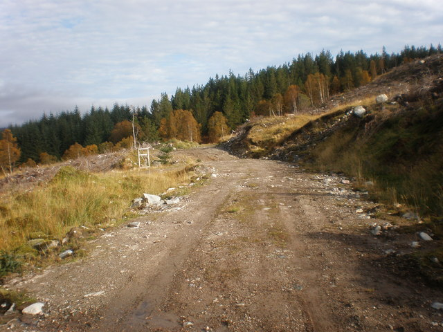 Old track upgraded for clear fell