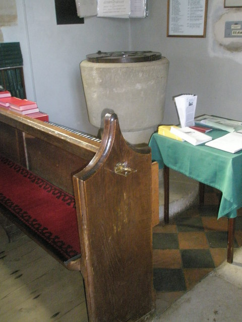 The font at St Peter, Terwick