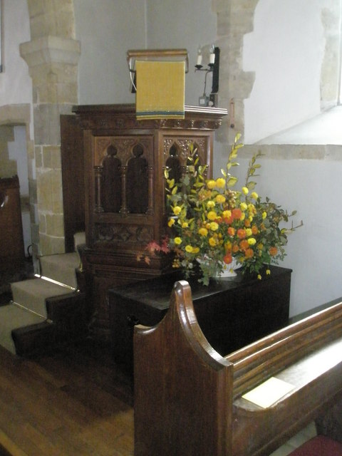 The pulpit at St Peter, Terwick