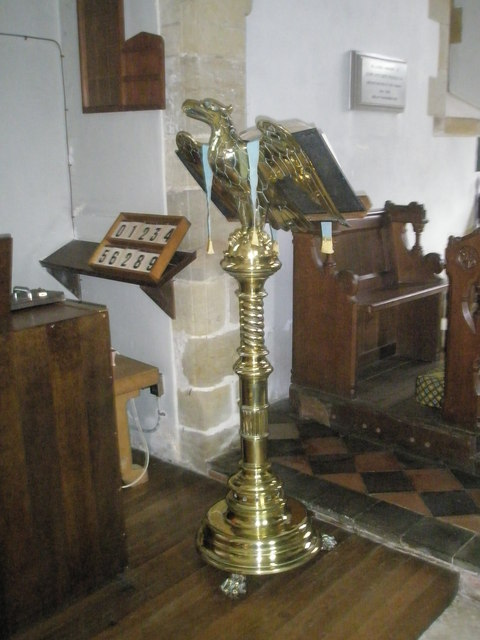 The lectern at St Peter, Terwick