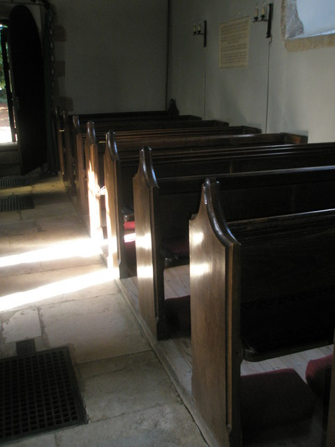 Pews within St Peter, Terwick