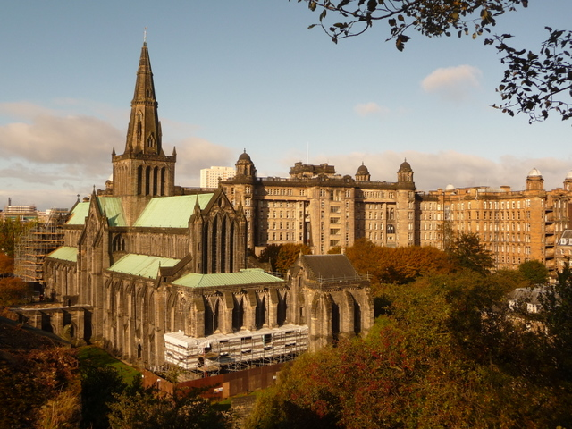 Glasgow: the cathedral and the Royal Infirmary