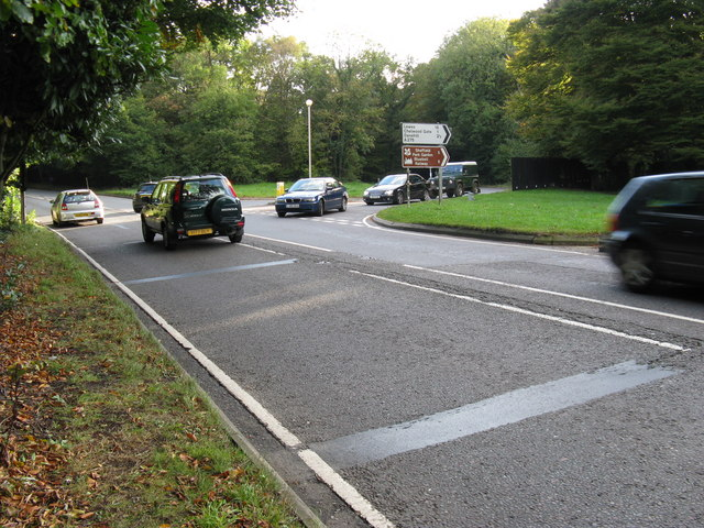 Busy moment at the junction of the A22 and A275