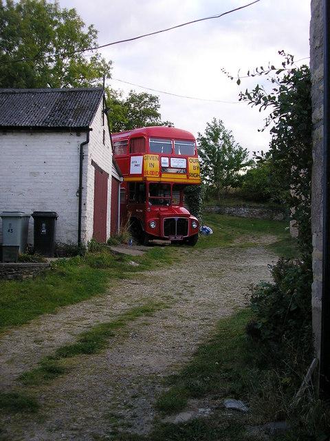 Ex London Bus in Greetham