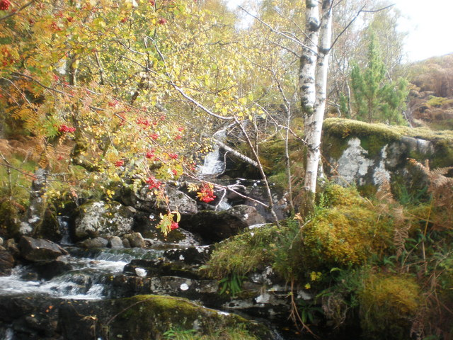 Allt Ghormaig at end of track