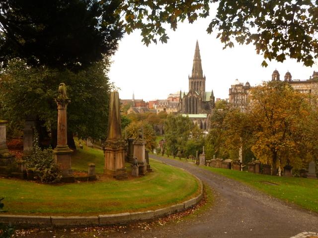 Glasgow: lower slopes of the Necropolis