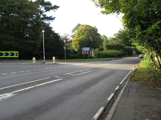 View from the SE of the A22 and A275 junction
