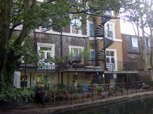 Canalside flats