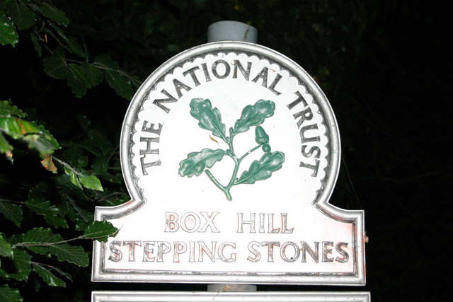 Box Hill Stepping Stones NT sign