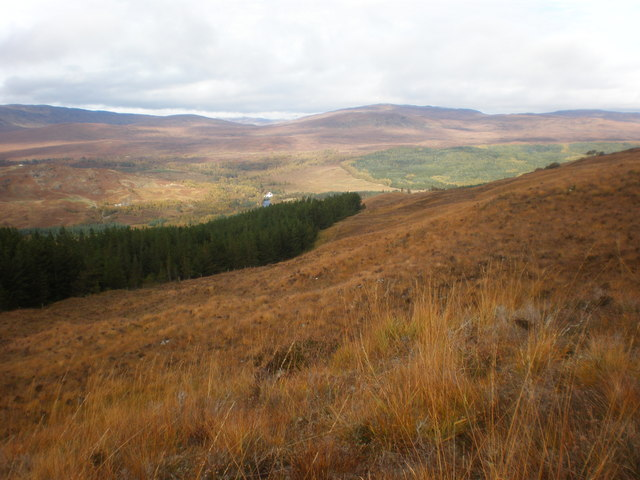 View from Meall an Iasgaire western moorland